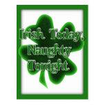 Irish Today, Naughty Tonight Postcard