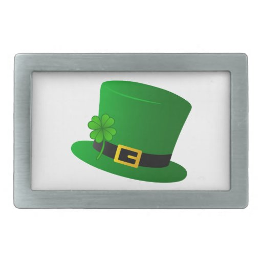 Irish Top Hat Rectangular Belt Buckle