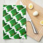 Irish Top Hat with Shamrock Kitchen Towels