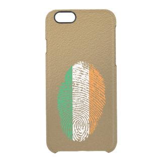 Irish touch fingerprint flag clear iPhone 6/6S case