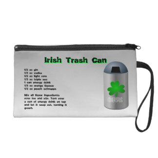 Irish Trash Can Drink Recipe Wristlet Clutch