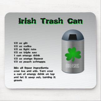 Irish Trash Can Drink Recipe Mouse Pad