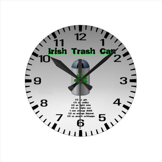 Irish Trash Can Drink Recipe Round Clock