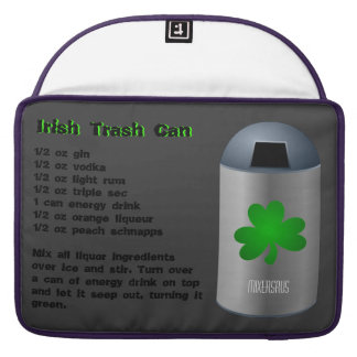 Irish Trash Can Drink Recipe Sleeves For MacBook Pro