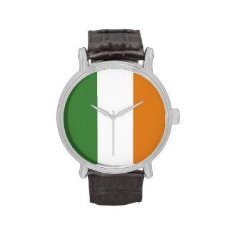 Irish Tri Color Flag Wrist Watches