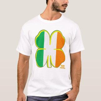Irish Tri-color Four Leaf Clover T-Shirt