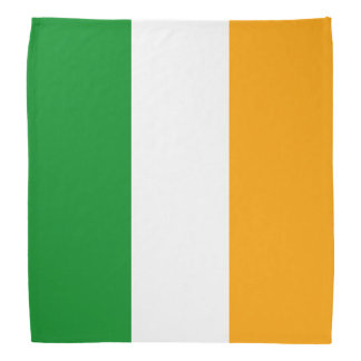 Irish Tricolor Flag Patriotic Head Kerchief