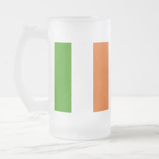 Irish Tricolor Party Frosted Glass Beer Mug