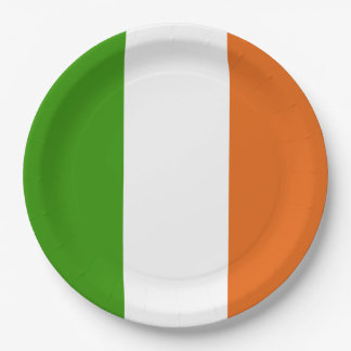 Irish Tricolor Party Paper Plate