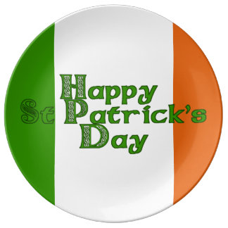 Irish Tricolor St Patrick's Day Plate