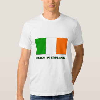 Irish tricolour flag with Made in Ireland text Tee Shirt