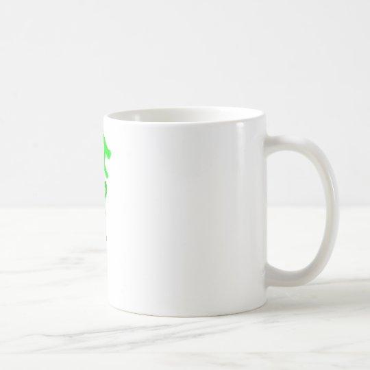 Irish Upside Down In 5 Shades of Green Coffee Mug