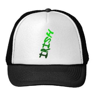 Irish Upside Down In 5 Shades of Green Trucker Hats