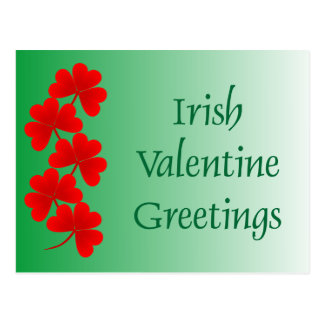 Irish Valentine Greetings Postcard
