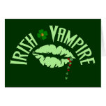 Irish Vampire Greeting Card