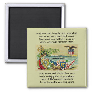 irish vintage love for erin 2 inch square magnet