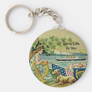 irish vintage love for erin keychains