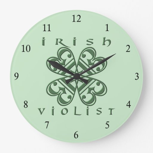 Irish Violist Clock