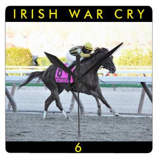 Irish War Cry Square Wall Clock