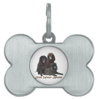 Irish Water Spaniel Can't Have Just One Pet Name Tag
