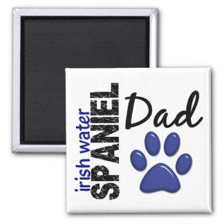 Irish Water Spaniel Dad 2 2 Inch Square Magnet