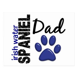 Irish Water Spaniel Dad 2 Postcard