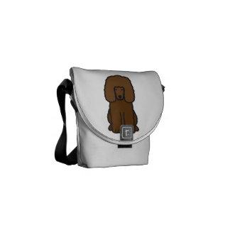 Irish Water Spaniel Dog Cartoon Messenger Bag