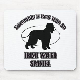 IRISH WATER SPANIEL DOG DESIGNS MOUSEPAD