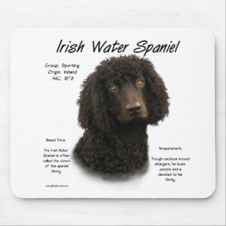 Irish Water Spaniel History Design Mouse Pad