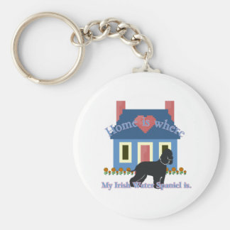 Irish Water Spaniel Home Is Keychain