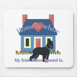 Irish Water Spaniel Home Is Mouse Pad
