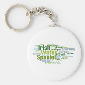 Irish Water Spaniel Keychain