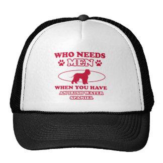 irish water spaniel mommy design trucker hat