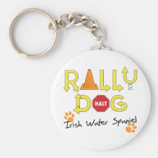Irish Water Spaniel Rally Dog Keychain