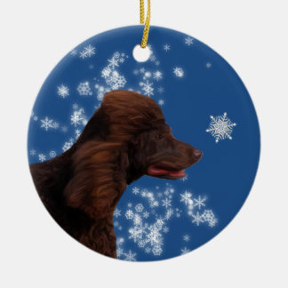 Irish Water Spaniel Winter Wonderland Ornament