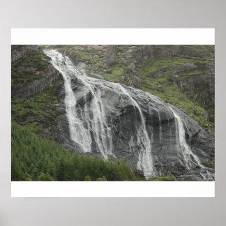 Irish Waterfall Poster