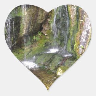Irish Waterfalls In Blarney Castle Garden Ireland Heart Sticker