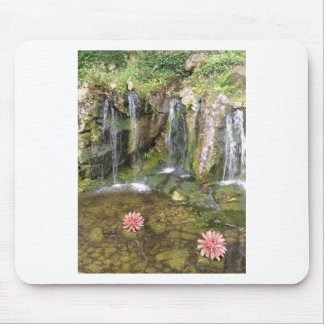 Irish Waterfalls In Blarney Castle Garden Ireland Mouse Pad