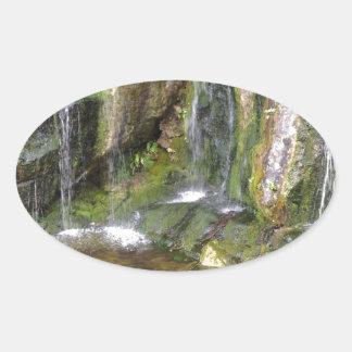 Irish Waterfalls In Blarney Castle Garden Ireland Oval Sticker