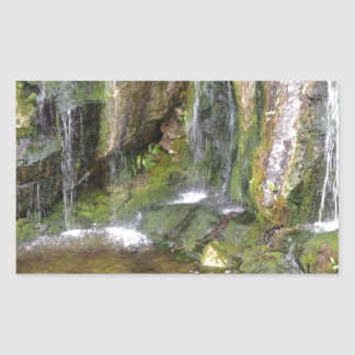 Irish Waterfalls In Blarney Castle Garden Ireland Rectangular Sticker