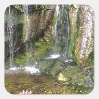 Irish Waterfalls In Blarney Castle Garden Ireland Square Sticker