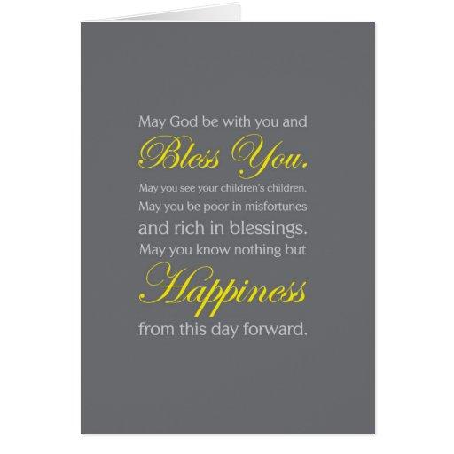 Irish Wedding Blessing Card