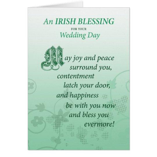 Irish Wedding Blessing Congratulations Card | Zazzle.com