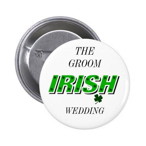 Irish Wedding Buttons