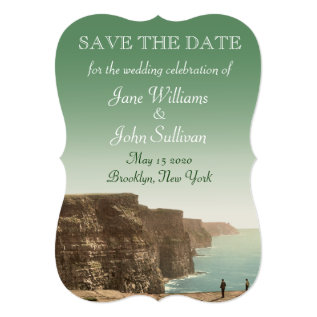 Irish Wedding Cliffs Of Moher Save The Date Card at Zazzle
