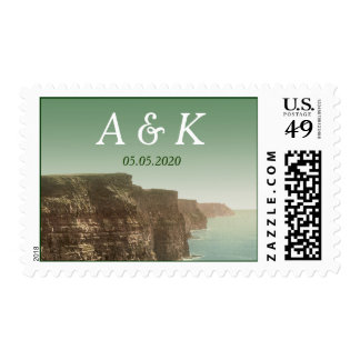 Irish Wedding Cliffs of Moher Save the Date Stamps