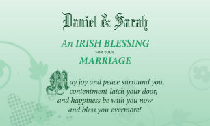 Irish Blessing Wedding Gifts | Zazzle
