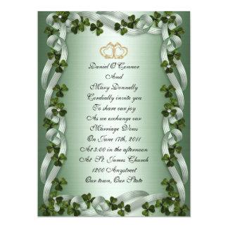 Irish wedding Invitation elegant