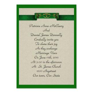 Irish wedding invitations announcements zazzle for Simple elegant wedding invitations ireland