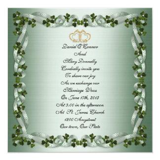 Irish wedding Invitation elegant square